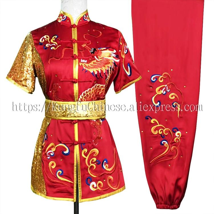 Chinese wushu uniform Kungfu clothes Martial arts suit Routine outfit taolu garment for women girl men
