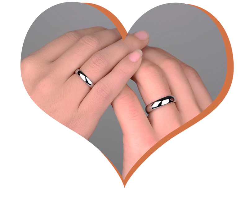 カップルの結婚指輪のための1 - ファッションジュエリー - 写真 6