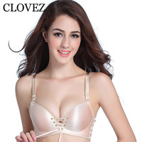 CLOVEZ 2017 Sexy Super Push Up Bra Women Gather Wireless Samless Bras Plus Size A B