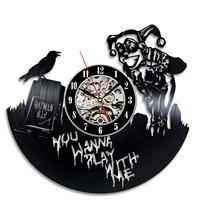 Batman & Harley Quinn Vinyl Wall Clock Vintage Decorative Kids Bedroom Cartoon Watch Wall Clocks Home Decor Silent 12 inch