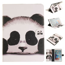 Kefo Panda style Flip PU Leather case cover For iPad 9.7inch 2017 For ipad Air air2 Mini 1 2 3 4 tablet accessories cute girl mini4 magnet flip cover for ipad pro 9 7 10 5 air air2 mini 1 2 3 4 tablet case for new ipad 9 7 2017 2018 a1893