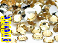 Lt. Kawa Kolor 2mm, 3mm, 4mm, 5mm, 6mm Aspekty Płaskie powrót Żywica Rhinestone Gems Nail Art Decoration