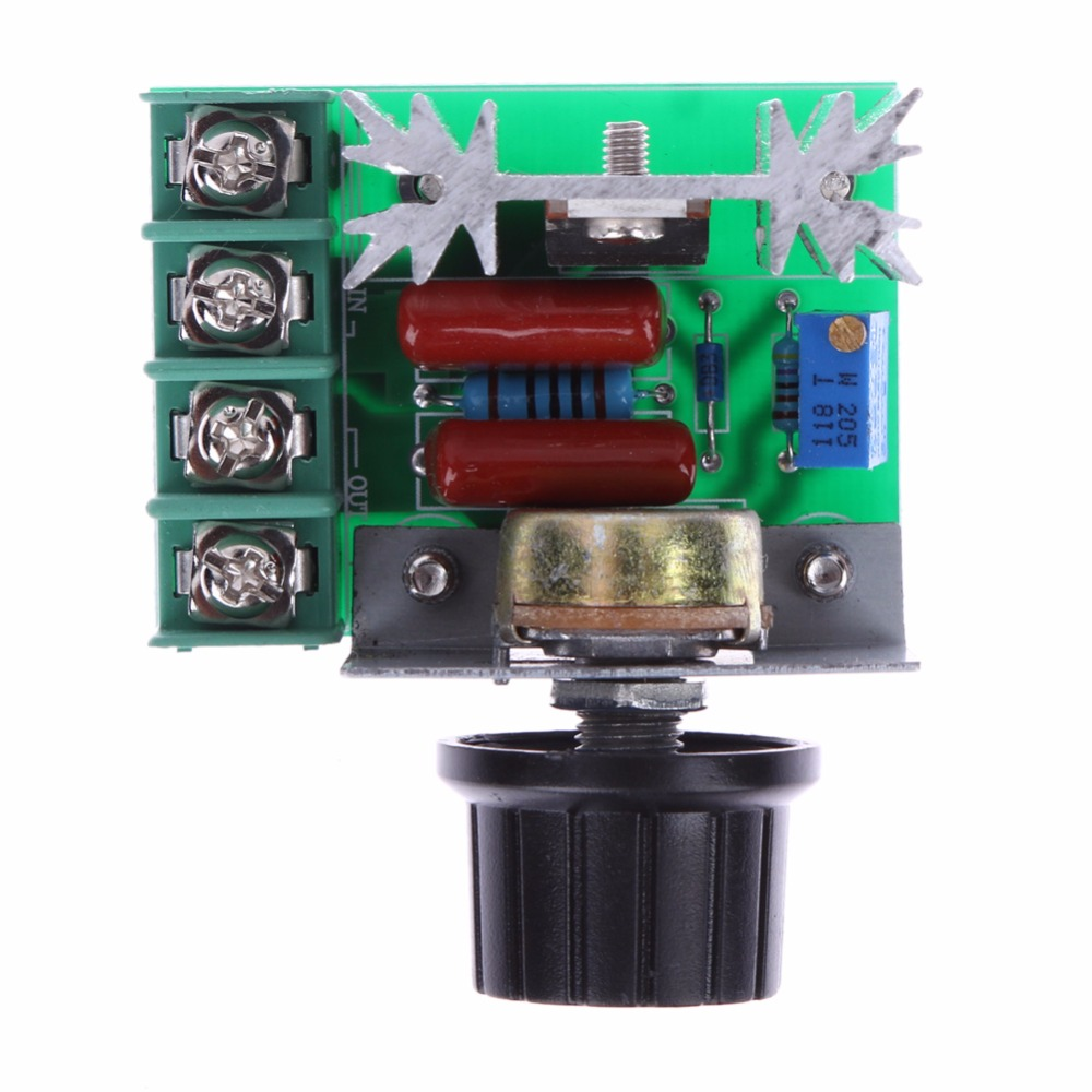 AC 220V 2000W SCR Silicon Electronic Voltage Regulator Module Dimmer Thermostat Temperature Speed Controller Regulator