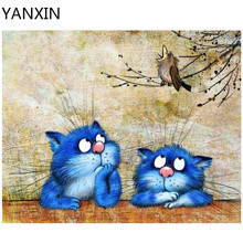YANXIN DIY Frame Painting By Numbers Oil Paint Wall Art Pictures Decor For Home Decoration 963(China)