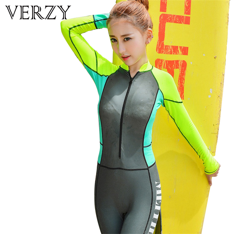 Gray Sexy Women Wetsuit Swimwear Women 2017 Hot Fullsuit Female Swimsuit Standing Collar swimming Bodysuit High Quality Seaside 2016 new women wetsuit sexy female swimwear standing collar neck keeping warm one piece swimsuit bodysuit protective swimsuit