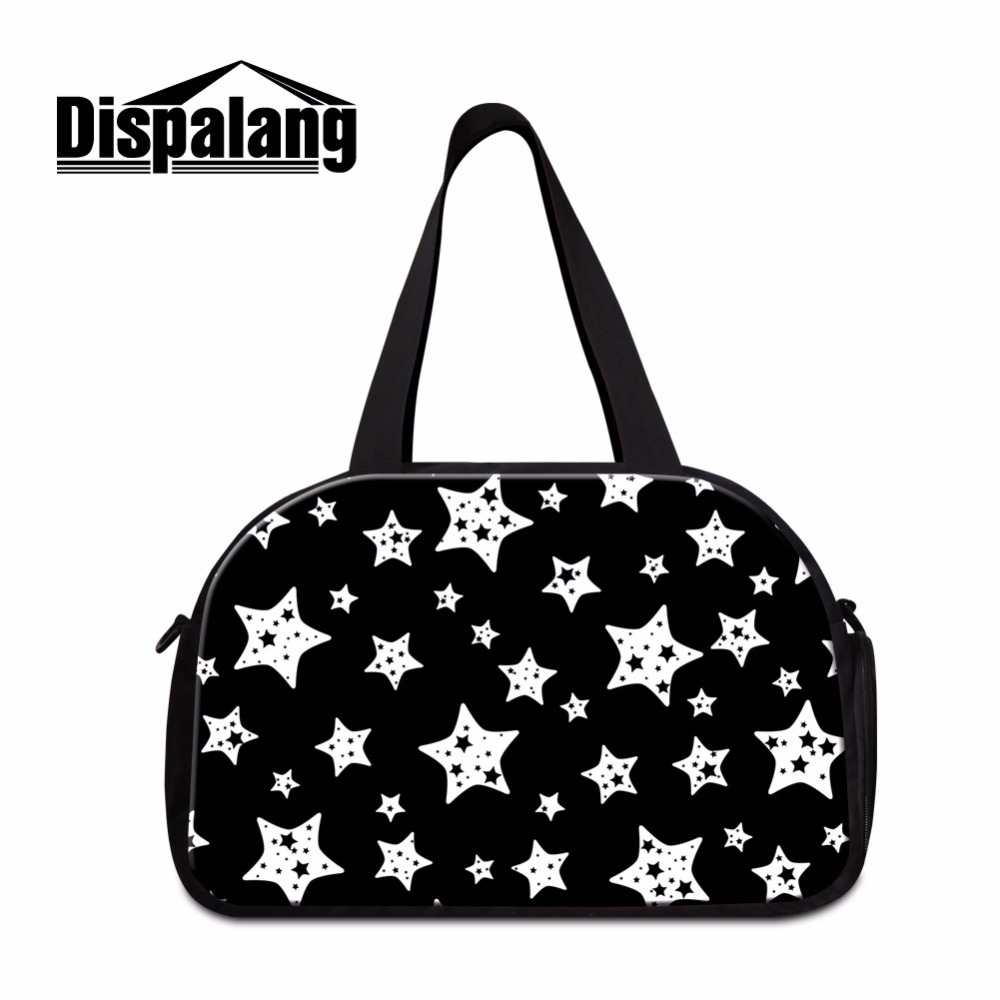 Fashion star printing traveling Bag for Women Cotton Duffle Bag Big Tote Multicolor Girls Shoulder Casual Travel Bag for Teens