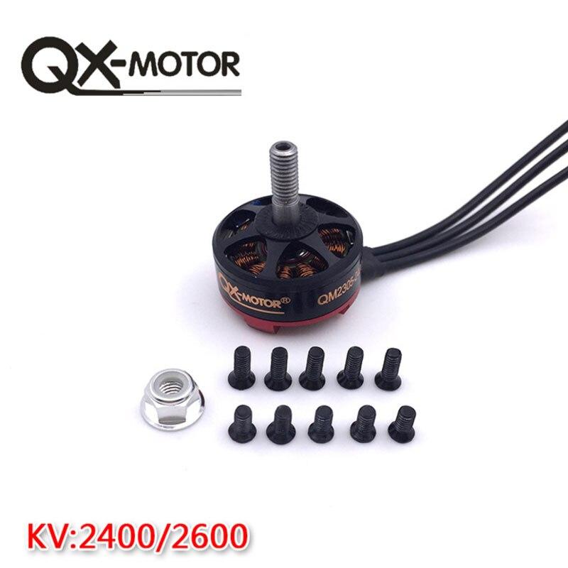 QX-MOTOR bricolage Drone pièces haute qualité QM2305 2400KV/2600KV moteur Brushless 3-5 S for200 210 220 250 RC cadre Kit en gros