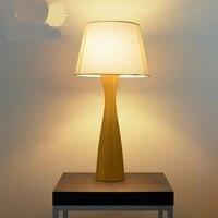 Nordic individual lâmpada de mesa madeira maciça sala estar quarto estudo cabeceira originalidade lâmpada mesa luzes za831