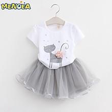 Menoea-Girls-Dress-New-2016-Clothes-100-Summer-Fashion-Style-Cartoon-Cute-Little-White-Cartoon-Dress
