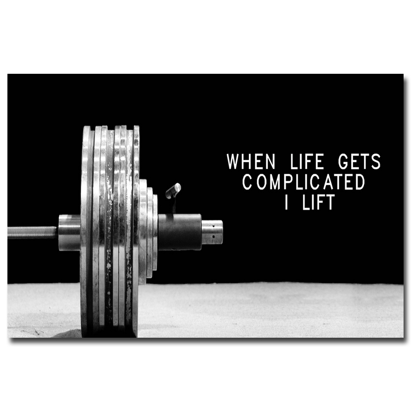 US $4 31 20% OFF NICOLESHENTING Bodybuilding Motivational Art Silk Poster  12x18 24x36inch Fitness Exercise Wall Pictures Gym Room 017-in Painting &