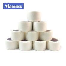 MADIMED лента для ногтей 12 рулонов/лот 2,5 см х 9,1 м клейкая Нетканая микропорная дышащая хирургическая бумажная перфолента, медицинская лента