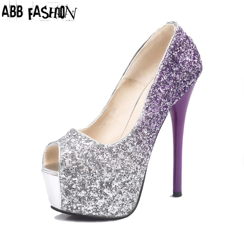 Online Get Cheap Purple Glitter Heels -Aliexpress.com  Alibaba Group