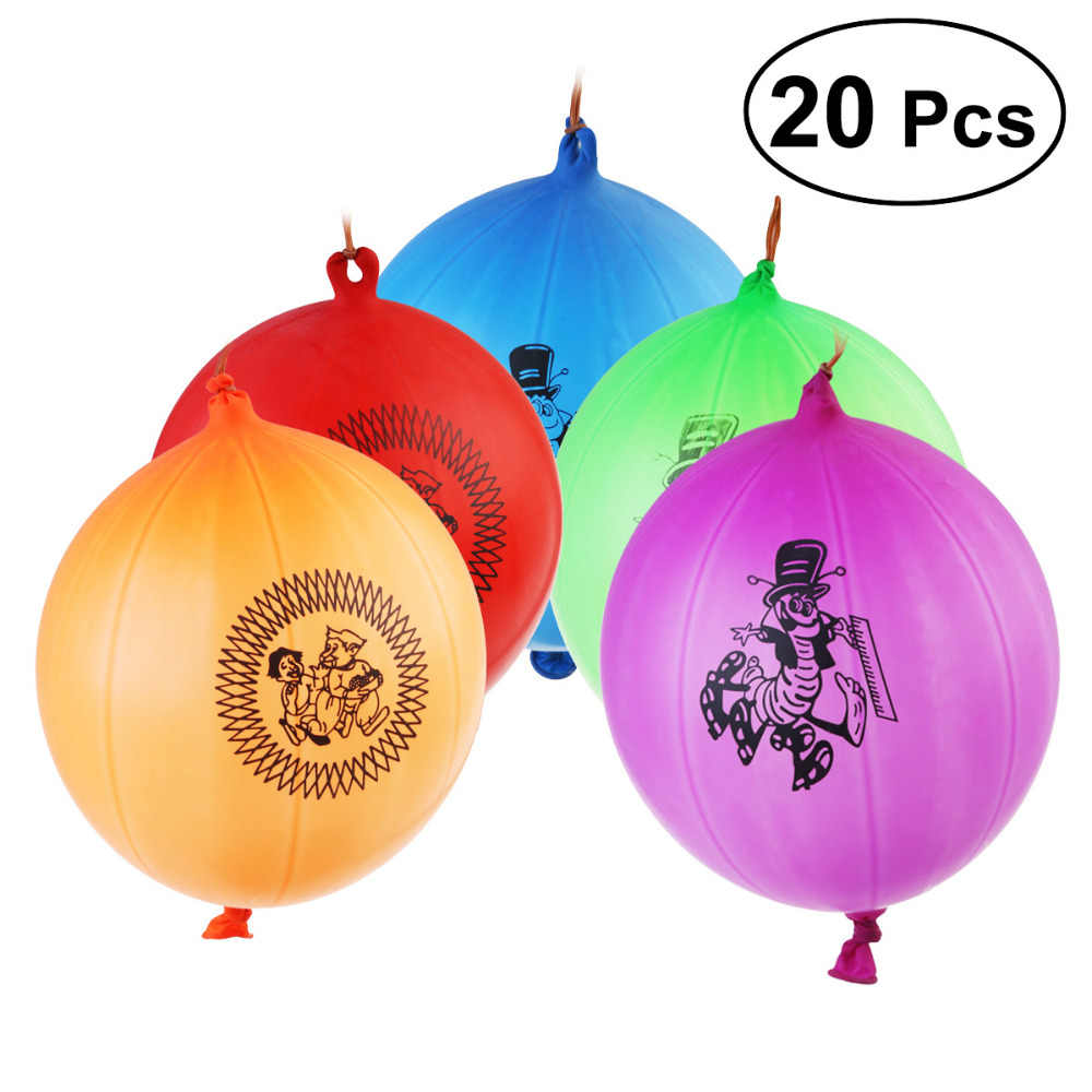 20pcs 8g Kids Balloons Toy Thickened Punch Balloons For Children Globos Party Birthday Balls Classic Toys Christmas Gift