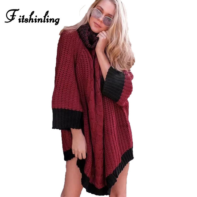 Aliexpress.com : Buy Fitshinling Oversize cosy knit turtleneck ...
