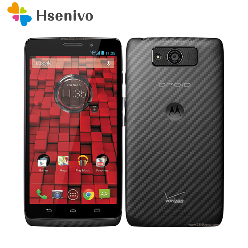 100% Original Unlocked Motorola Droid Maxx XT1080 XT1080M Unlocked 3G GSM GPS 10.0MP 16GB/32GB 4G LTE cell phone Refurbished