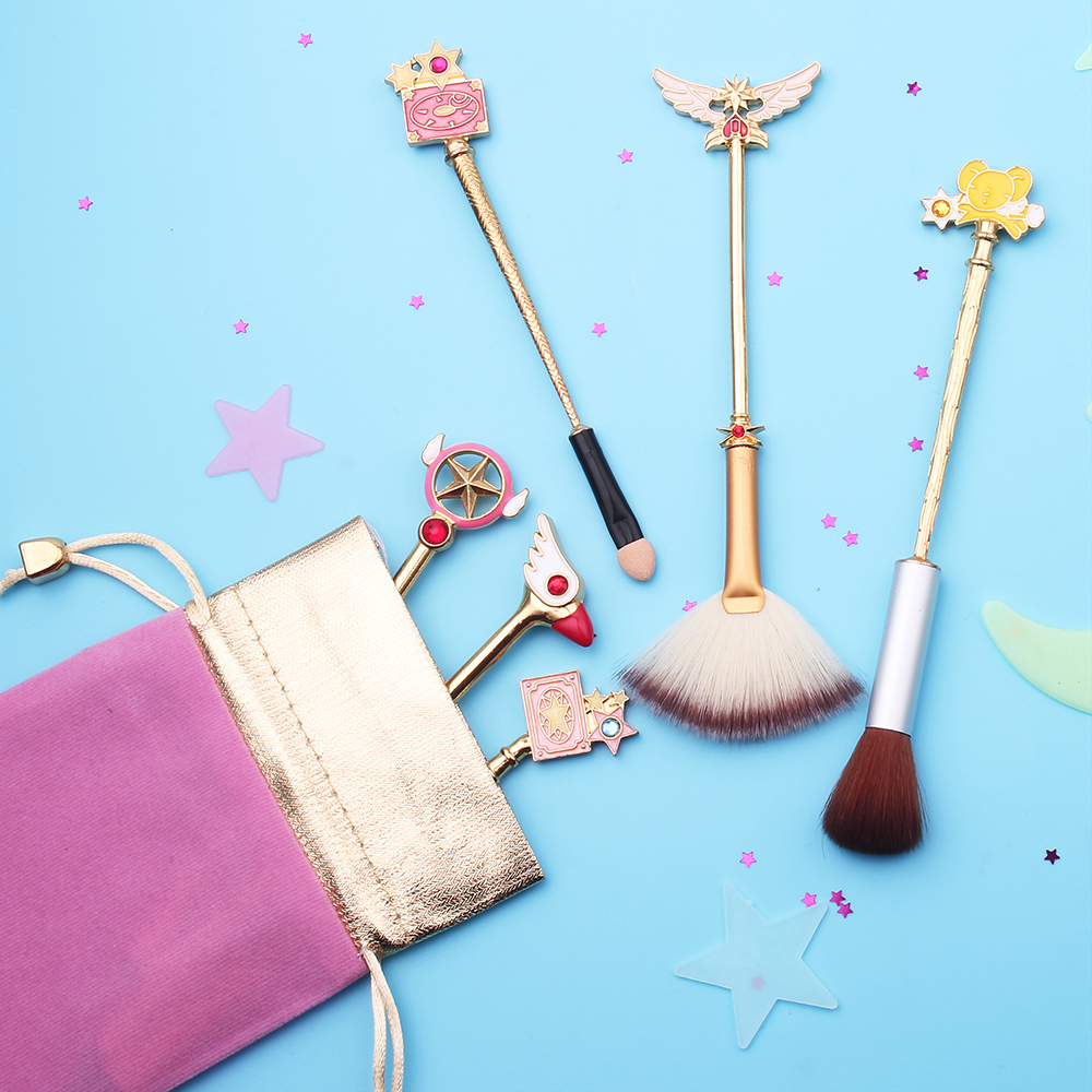 Eye Shadow Applicator Makeup Tools & Accessories Objective New Design Sakura/sailor Moon Style Jewelry Makeup Cosmetic Brush Moon/feathered Wings/crystal/magic Wand Womens Gift