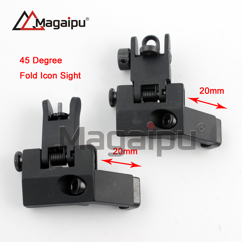 Tactical RTS AR15 M6 Front and Rear 45 Degree Rapid Transition Iron Rear Sight Scope Mount