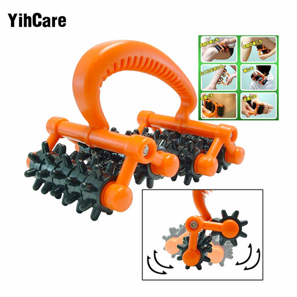 YihCare Manual Body Massager Device Skin Roller for Slimming Arm Back Massage Anti Cellulite Losing Weight Cervical Vertebra cool ice derma skin roller anti aging tool face body massage skin massager ice roller face and body massage facial skin wrinkles