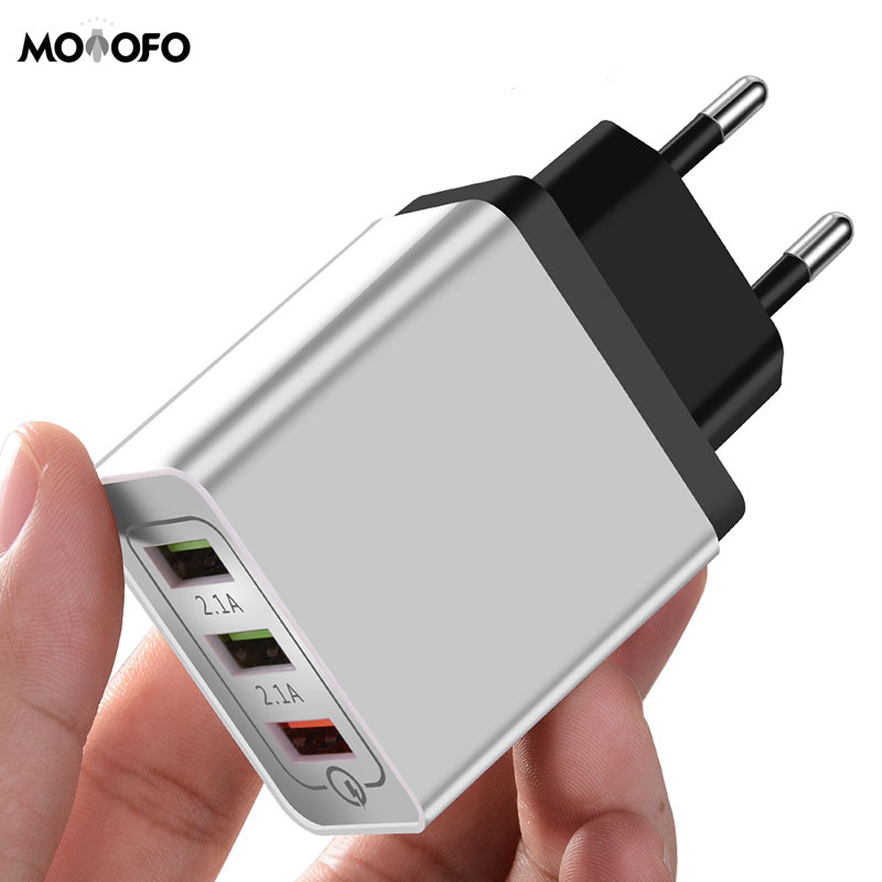 3 port Universal 18W USB Quick Charge 3 0 5V 3A for iPhone EU plug mobile