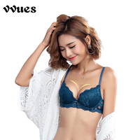 VVUES Sexy Lace Bra Set Lingerie Intimate Women Sexy Bras Transparent lace Thin Bra Push Up Seamless Underwear Underwire 2019