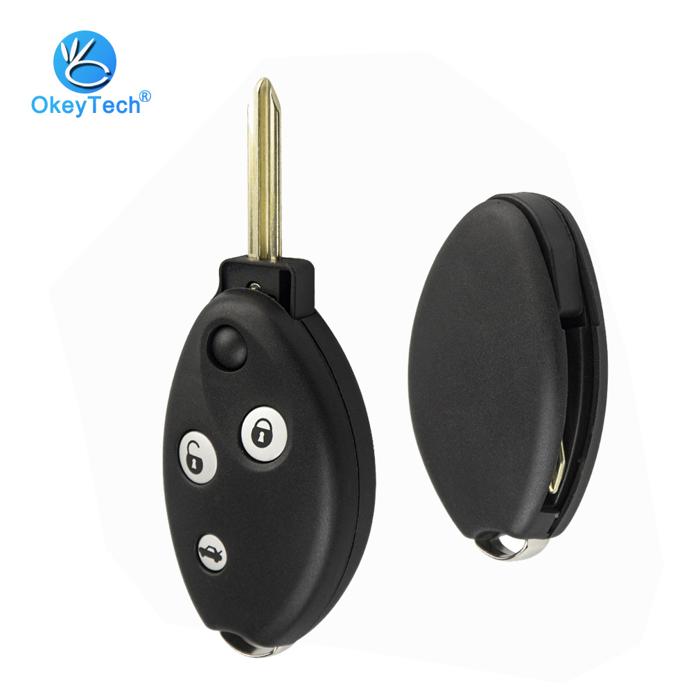 OkeyTech Key Shell Fob Case For Citroen C3 C4 C5 Saxo Xsara Picasso Berlingo 3 Button With Rubber Pad Car Accessories Alarm