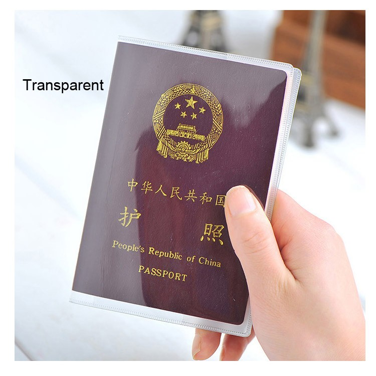 100pcs/lot Transparent Passport Protective Passport Cover Waterproof Document Bags Sleeve