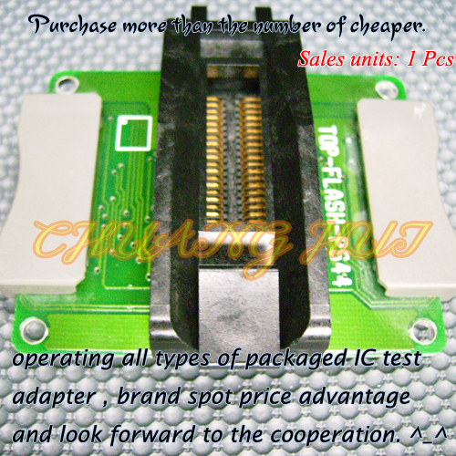 TOP-FLASH-PS44 Adapter PRO-208/PRO204 Programmer Adapter PSOP44 IC51-0442-1208 Adapter/IC SOCKET/IC Test Socket free shipping program ch2015 usb high speed programmer 300mil fp16 to dip8 socket eeorom spi flash data flash avr mcu programmer