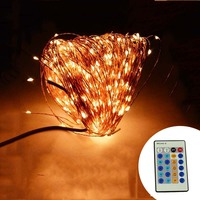 IR Remote Control 50M 165Ft 500 LED Copper Wire Warm White White Multicolor LED String Light