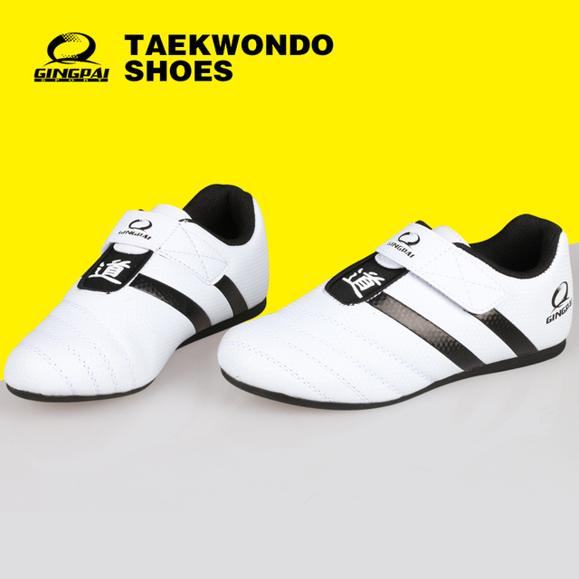 Free shipping newbrand Child Adult WTF PU leather Breathable Wear-resistant Taekwondo shoes kicking boxing Shoes karate Shoes