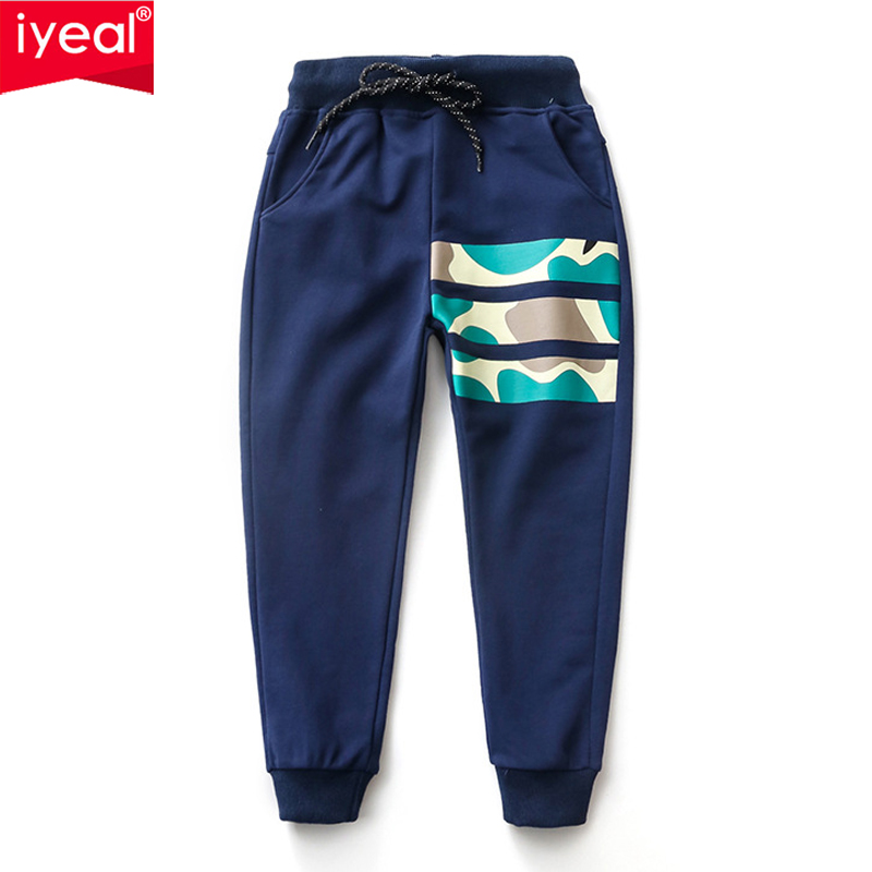 IYEAL Big Boy Pants Spring Children Sports Pants 2018 Autumn Casual Kids Trousers For Boys Clothes Age 4 5 6 7 8 9 10 Years