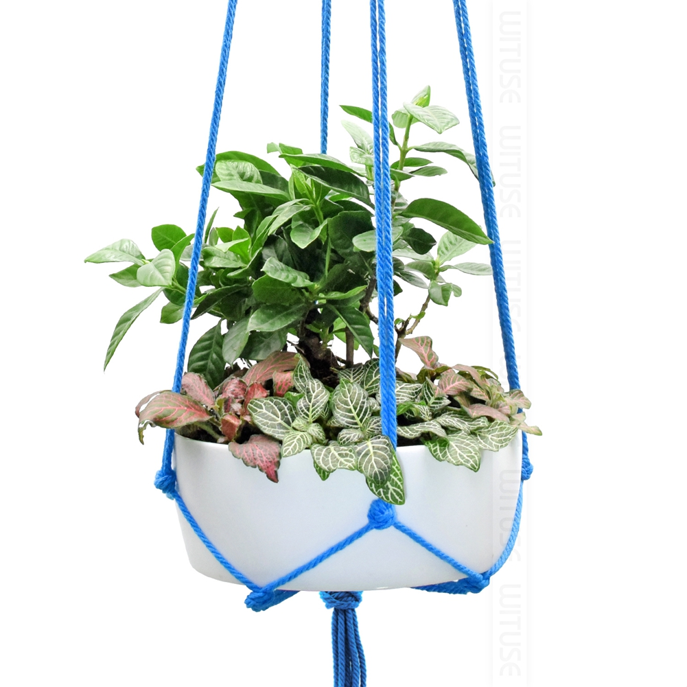 Image 5 - WITUSE Colorful Cotton Rope Pot Holder Hanging Basket Simple Flower Hanger Ceramic Planter Hanging Tool Balcony Pot Room Decor-in Hanging Baskets from Home & Garden
