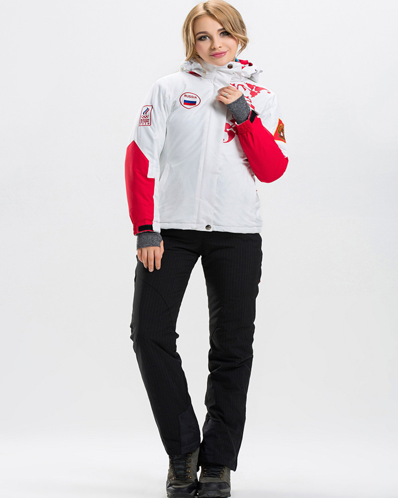 Prix pour Femelle Ski Vêtements Femmes Snowboard Costumes Veste + Pantalon Imperméable Coupe-Vent Manteau et Pantalon Femelle D'hiver Ski Vêtements