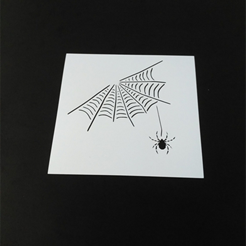 Cool Spider Web Stencils Template Design For Scrapbooking Background,Reusable Plastic Spray-Paint Stencils For Diy