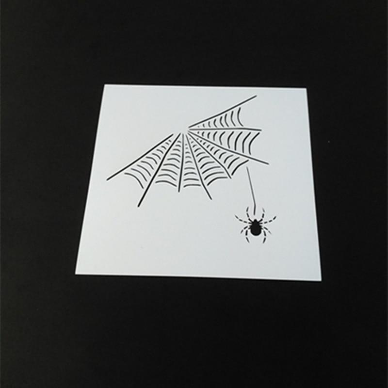 Cool Spider Web Stencils Template Design for scrapbooking ...