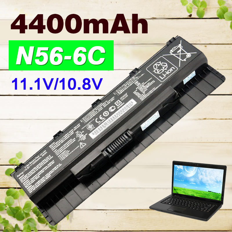 4400mAh A31 N56 A32 N56 A33 N56 laptop battery for Asus ROG G56J G56 G56J N46
