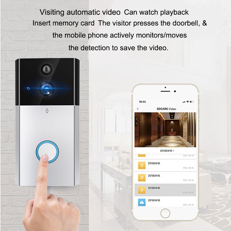Smart Doorbell IP Video WIFI Wireless Doorbell Intercom Door Phone With Camera For Apartments IR Alarm Wireless Security Camera