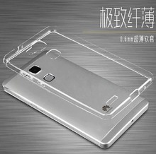 A4 Cristal Transparente Claro Macio TPU Silicone Rubber Gel Pele Caso Capa Ultra Fino Para Huawei G8 RIO-L01 RIO-L02 GX8 RIO-L03