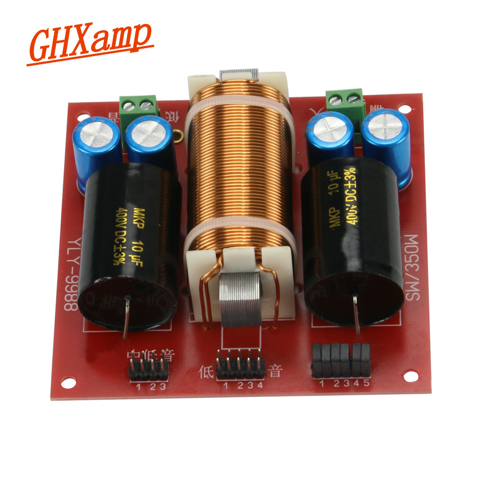 GHXAMP 1PC Subwoofer Crossover Audio Board MID-Bass Bass 13 Crossover Points Frequency Divider 350W 4-8OHM цена