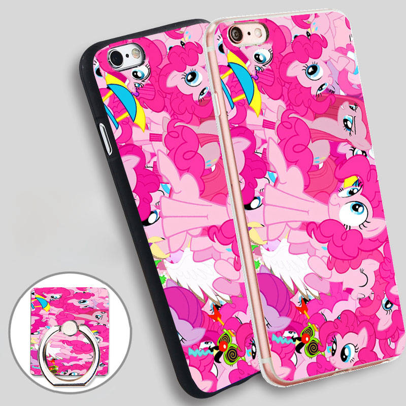 Pinkie Pie Soft TPU Silicone Phone Case Cover for iPhone 4 4S 5C 5 SE 5S 6 6S 7 Plus