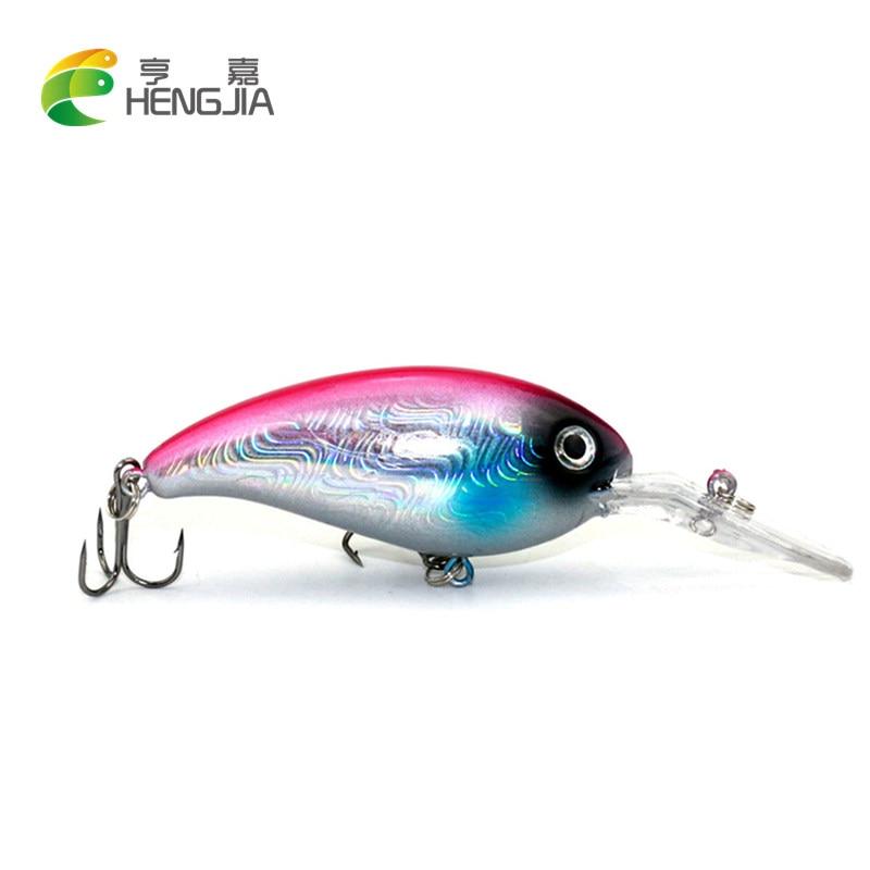 HENGJIA 1PC Crankbait Wobblers Hard Fishing Tackle 14g 10cm Swim bait Crank Bait Bass Fishing Lures 10 Colors CB031 pike perch