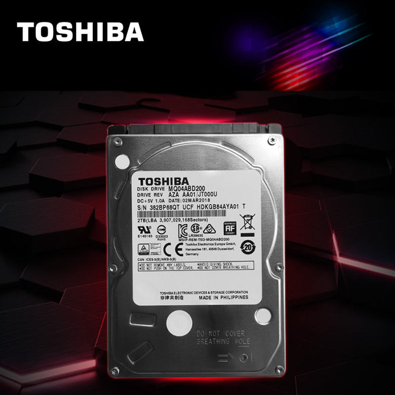 """Image 2 - TOSHIBA Laptop Hard Drive Disk 2000G 2T Internal HDD HD 2.5"""" 5400 RPM  128M Cache 9.5mm SATA3 MQ04ABD200 Original for Notebook-in Internal Hard Drives from Computer & Office"""