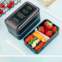 цена на Japanese Microwave Bento Box Child Lunch Box Leak-Proof Lunch Box with Spoon For Kids School Outdoor Food Container Lunchbox