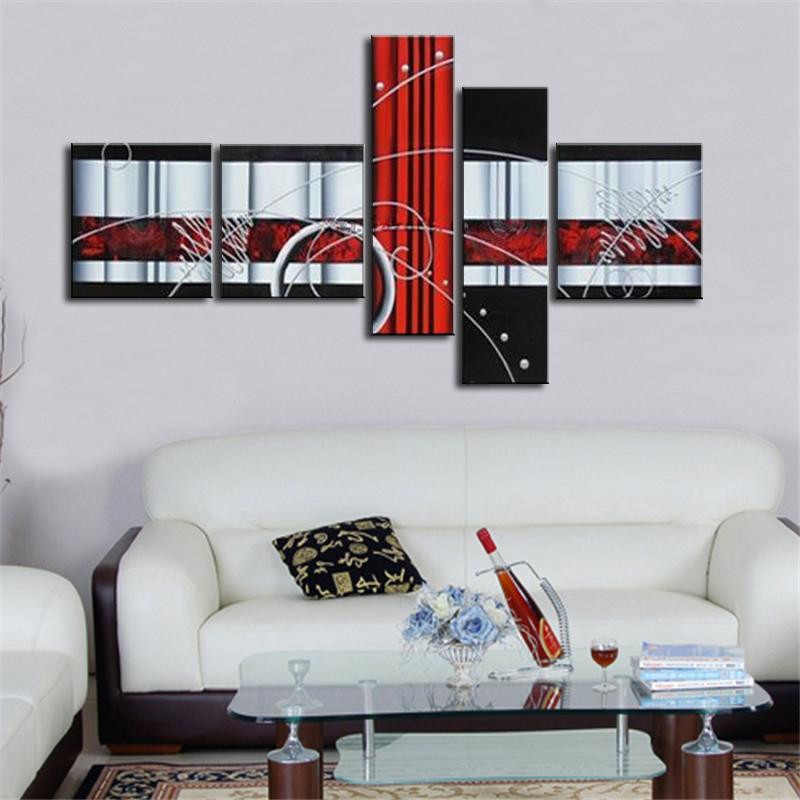 Abstrakte Kunst Rot-kaufen Billigabstrakte Kunst Rot Partien Aus ... Wohnzimmerwand Rot