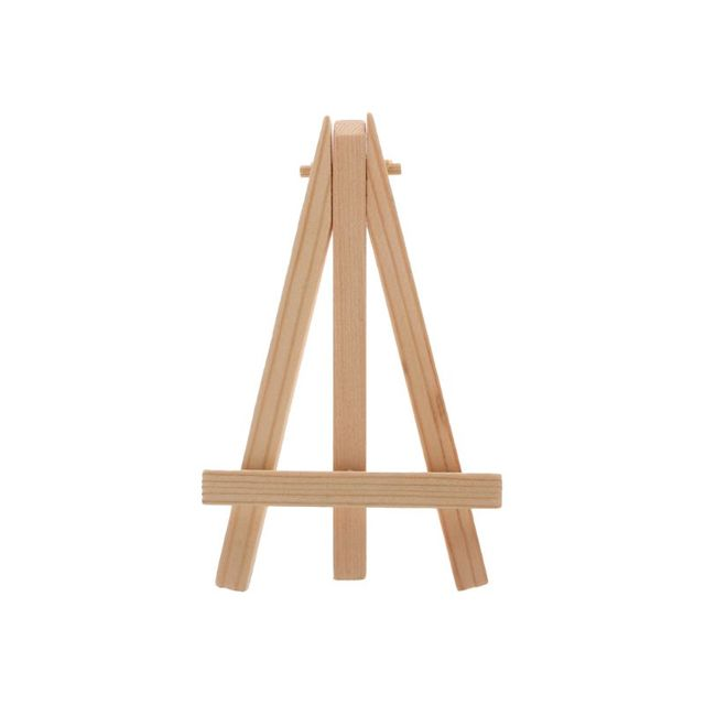 Us 0 72 14 Off Natural Wood Mini Easel Frame Tripod Display Meeting Wedding Table Number Name Card Stand Display Holder Children Painting Craft In
