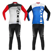 Unsex Cycling Jersey Pants Set Long Sleeves Clothing Spring Autumn Outdoor MTB Bike Bicycle Motocross Tour