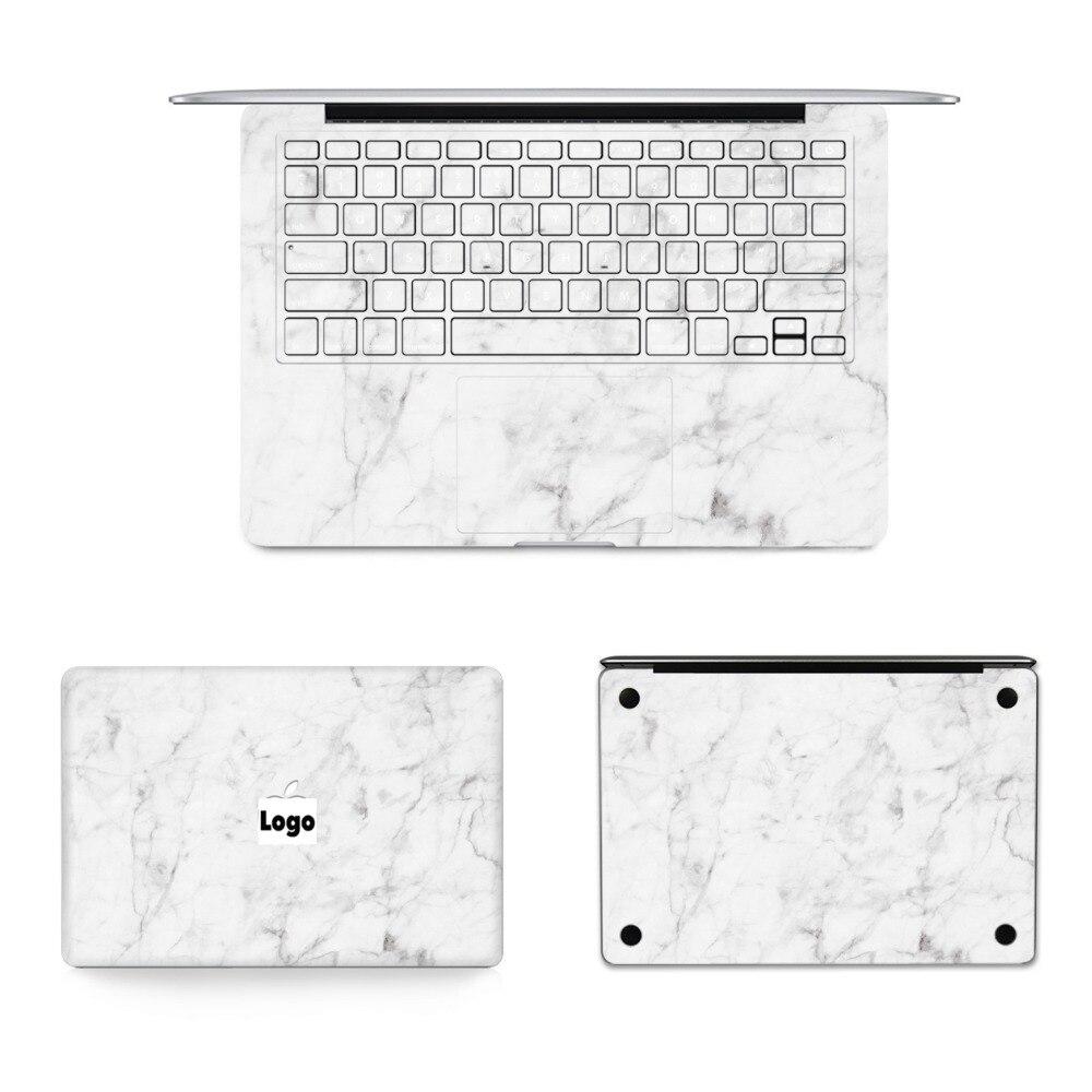 YCSTICKER - 4 in 1 Set Laptop Full Sticker Marble Skin Vinyl Decal for Macbook Air Pro Retina 11 12 13 15 Sticker & Screen Film