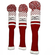Golf headcover One Set Wool Knit Golf Clubs Set Driver NO3.5 Fairway Wood Head Covers free shipping