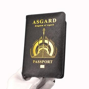 Wakanda Passport Holder Rfid Blocking Pu Leather Asgard Passport Case Travel Wallet Black Covers for Passports