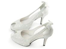 High Heel Peep Toe Shoes Woman Sandal Formal Dress Shoes Lady Wedding Bridal Shoes  Party Evening Banquet Pumps Formal Shoes