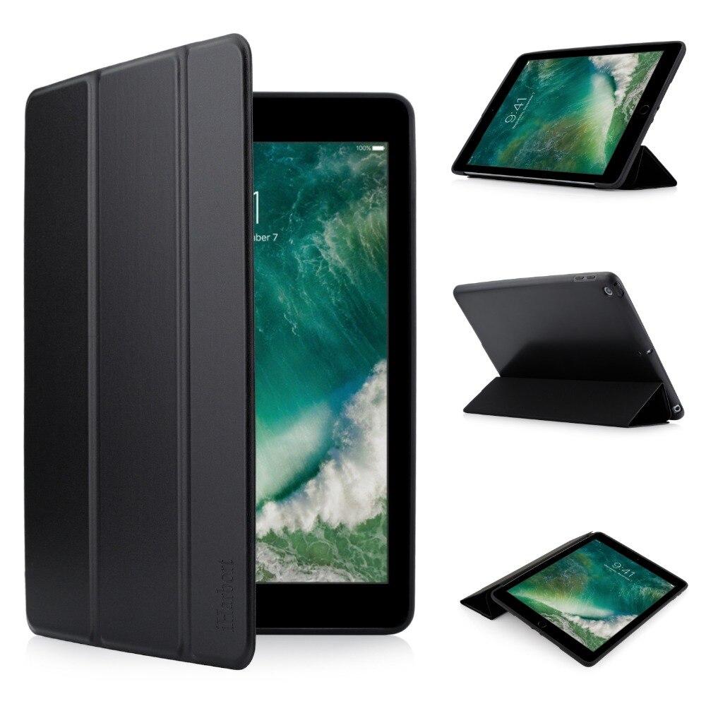 где купить Stand Case for iPad 9.7 2018 / 2017, iHarbort Soft Silicone TPU Case smart Cover Stand Holder Auto Wake / Sleep function по лучшей цене
